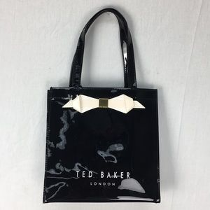 Ted Baker Black Raycon Plain Bow Small Icon Bag